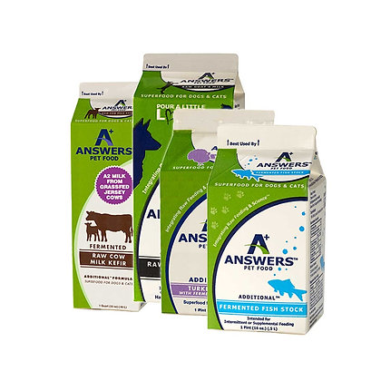 Answers Additionals           Raw Fermented Milks and Bone Broths
