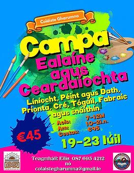 Campa Ealaíne agus Ceardaíochta le Log