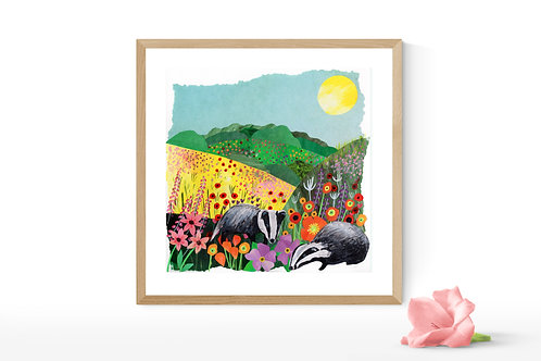 Badgers Delight - Limited Edition Mounted Gesso Print