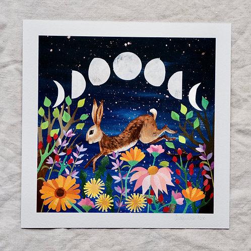 Print - Herb Garden Hare