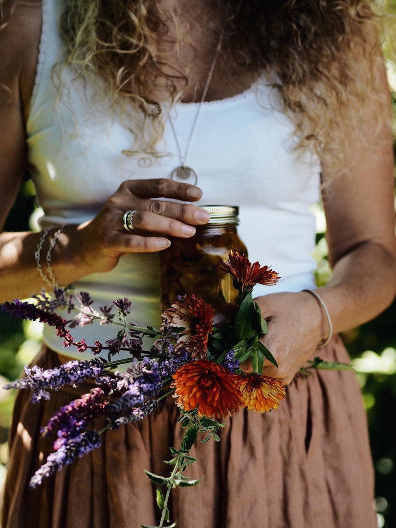 Foraging flowers and herbs