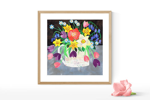 Jug of Joy - Limited Edition Mounted Gesso Print
