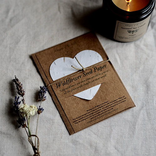 Wildflower Seed Paper Heart