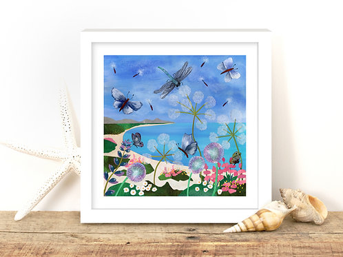 Butterfly Bay - Limited Edition Mounted Gesso Print