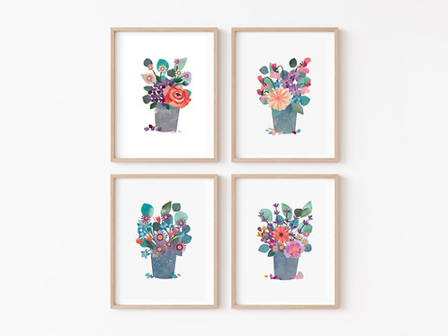 The Florals - A Collection of 4 Limited Edition Giclée Prints