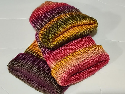 Knit Hat - Rainbow Sorbet