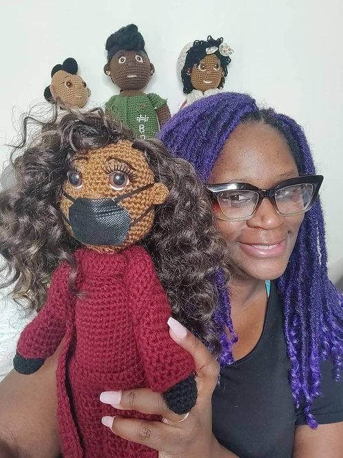 Michelle Obama Inspired Crochet Doll - 2021 Inauguration