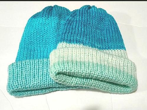 Knit Hat - Blue Cotton Candy