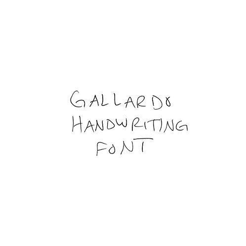 Gallardo Handwriting