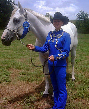 girl and horse, show horse, showmanship, first place