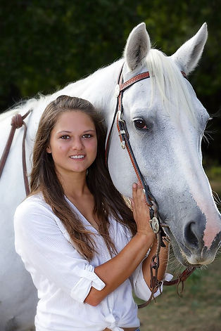 a girl and horse horse, horse and rider, white horse