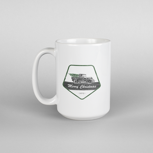 Christmas Truck Patch Mug - 15 oz.