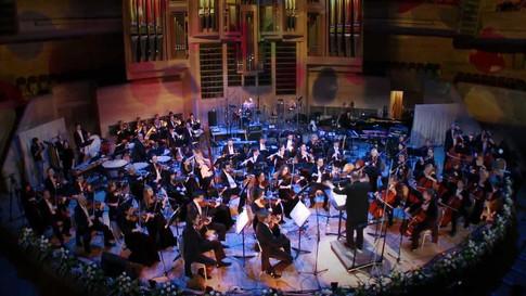 Съемки концерта симфонического оркестра Спивакова