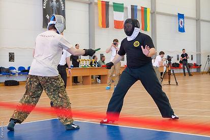 Съемки соревнования по спортивному ножевому бою, 2013 год
