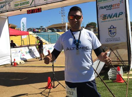 Trabajador Altimec participó de la Maratón Internacional de Temuco