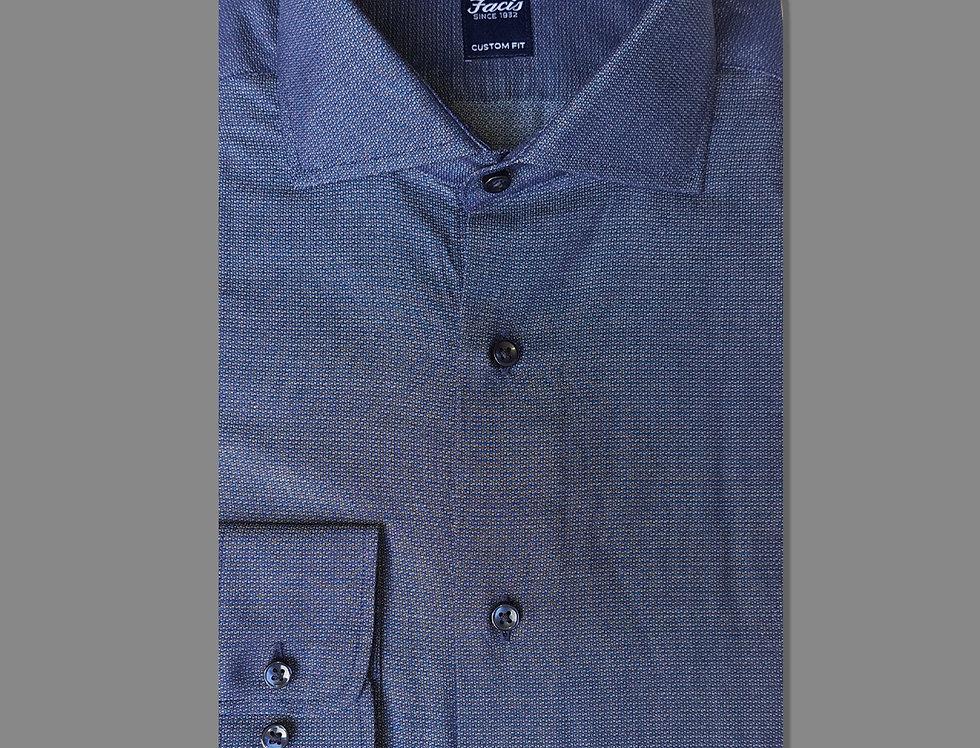Camicia in puro cotone - fantasia blu