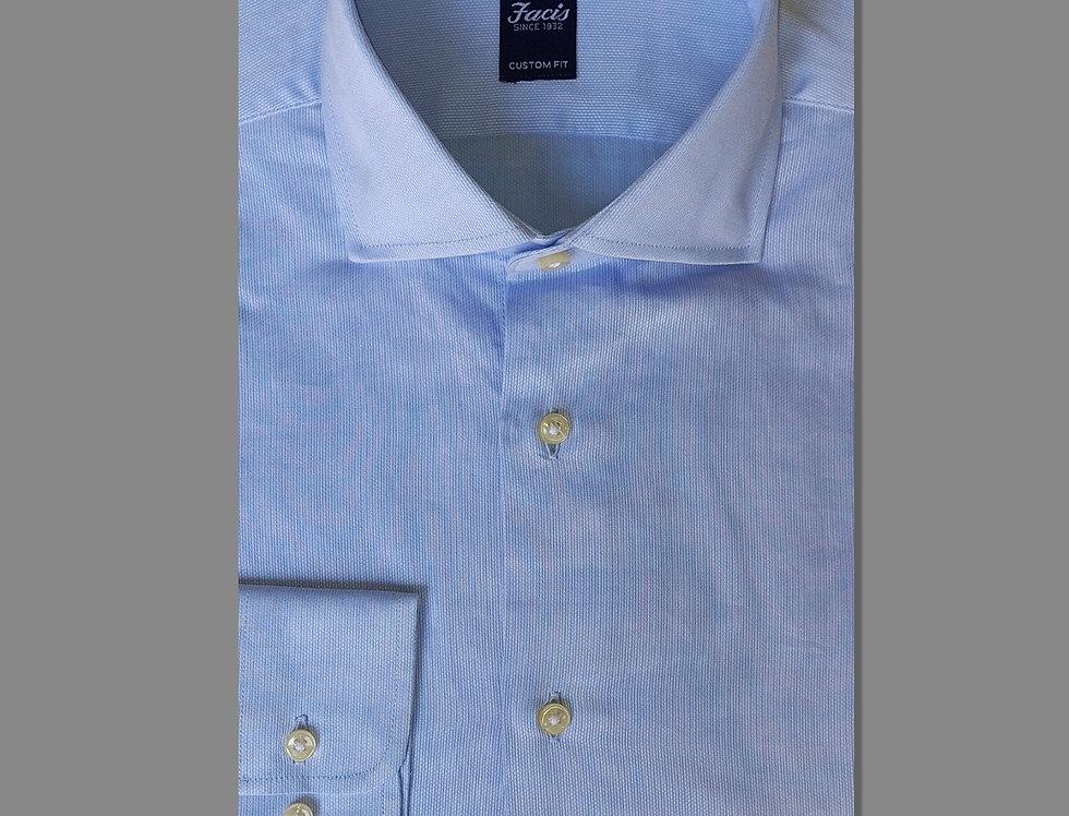 Camicia in piquet di puro cotone azzurra