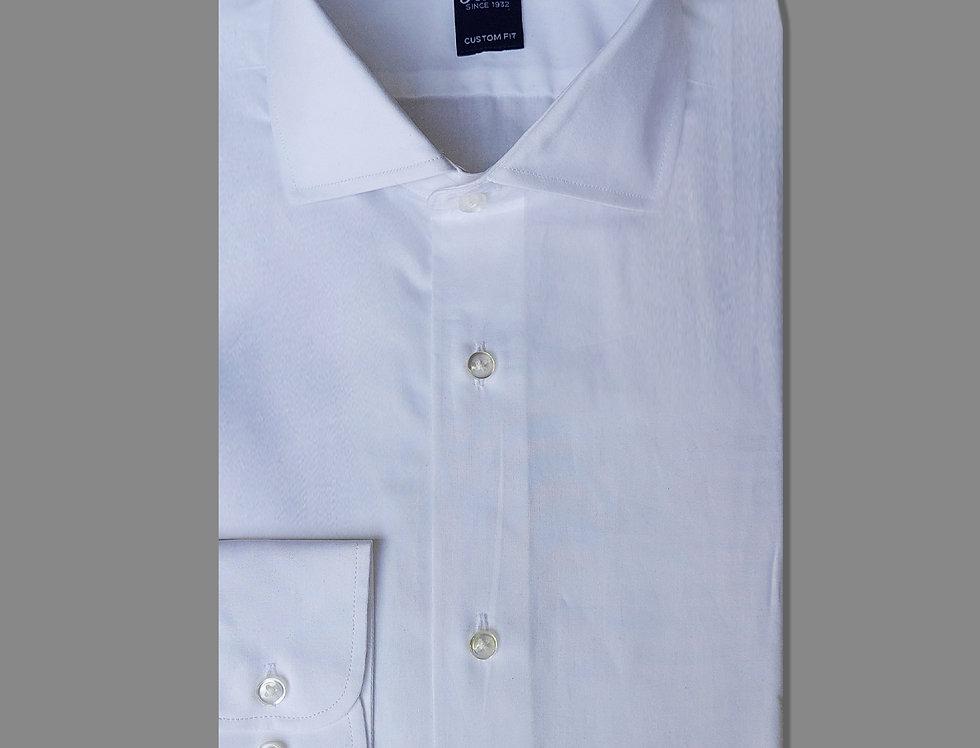 Camicia in twill di puro cotone bianca