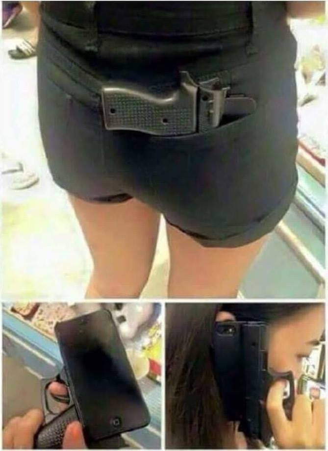 Young people please do not purchase this cell phone case that looks like a handgun. Too much violence as it is. Please practice gun safety.