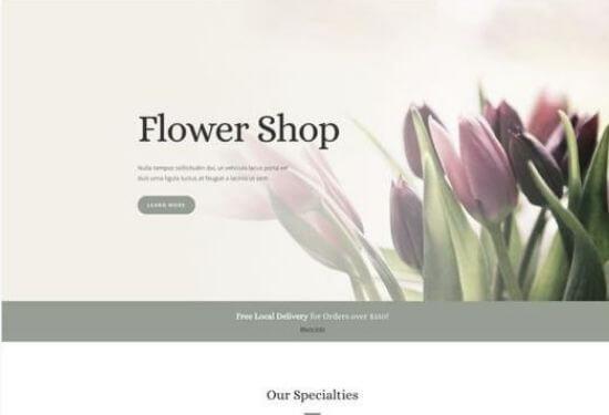 plantilla web floristería