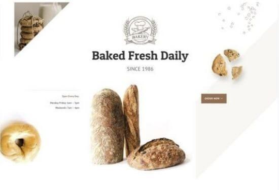 Plantilla web panadería