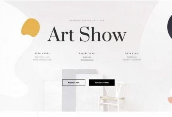 plantilla web galería de arte