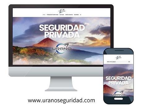 visión en pantalla de escritorio y pantalla móvil de la web uranoseguridad.com