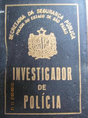 Antiga Carteira Preta de Investigador de Polícia (pertente ao Dr. Paulo Viesi, delegado e ex-investigador).