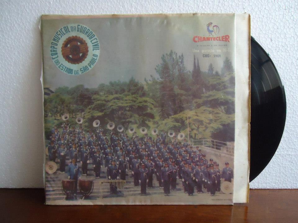 Corpo musical da Guarda Civil do Estado de São Paulo (disco de vinil), década de 60.