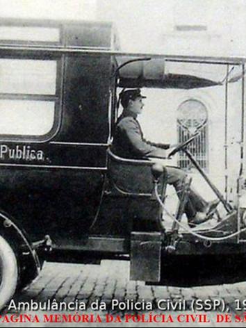 Viatura Assistência Policial (Ambulância), da Polícia Civil do Estado de São Paulo, em 1.905.