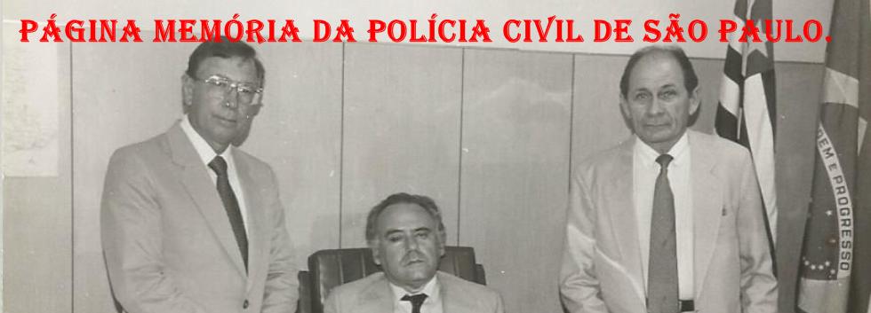 """Delegacia Seccional de Jundiaí, no final da década de 80. Delegados Antônio Carlos Gonçalves, Adolfo Magalhães Lopes (irmão do saudoso Delegado Adhemar Magalhães Lopes """"Capitão Gancho"""") e Amadeu Campos."""