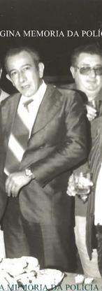 """Delegacia de Vadiagem da DIG- DEIC, em 1.977. Investigadores Eduardo Farah, Mineirinho, Luchetti, Delegado Wilson Tamer, Investigador Meninão, Delegado Montanheiro, Investigadores Galdi e Vitor """"Cabelo Branco""""."""