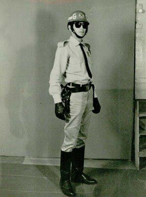 Motociclista da extinta Guarda Civil, década de 60.