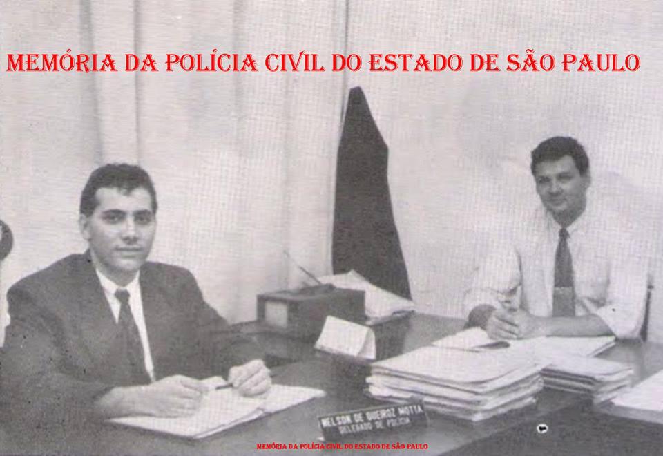 """Equipe """"H"""" Leste campeã de produção do DHPP, em 1.991. Delegados Nelson de Queiroz Motta (hoje Delegado Titular do 4º DP de Guarulhos) e Luiz Gabriel Sampaio Garcia."""