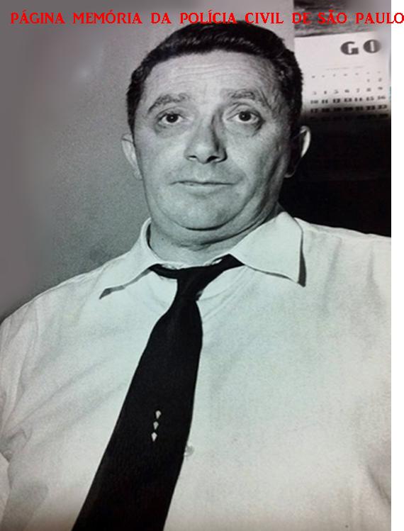 Delegado Hélio Nico, da Delegacia de Roubos do antigo DI- Departamentos de Investigações (Kilo), em 1.965. (Acervo do Repórter Policial João Bussab).