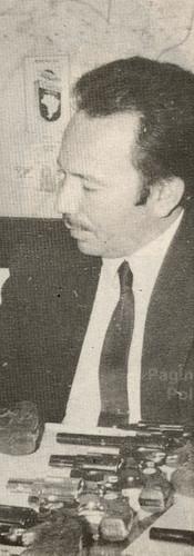 """Delegado de Polícia da RUDI, José Carlos Baptista, o """"Zebu"""". Era campeão brasileiro de braço de ferro. Faleceu ainda muito novo. Foi um dos Delegados que marcaram época na RUDI, tendo como Chefe dos Investigadores, Washington Gomes de Campos, o """"Campinho"""", nas décadas de 60 e 70."""