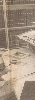 investigador Alfredo Gregório Júnior, que se destacou na baixada santista. Já aposentado, cuidava ao acervo outrora disposto ao Núcleo de Ensino Policial de Santos.