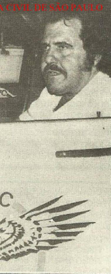 """O saudoso Investigador de Polícia do GARRA José Carlos Marques, o """"Gaúcho"""", no final da década de 70."""