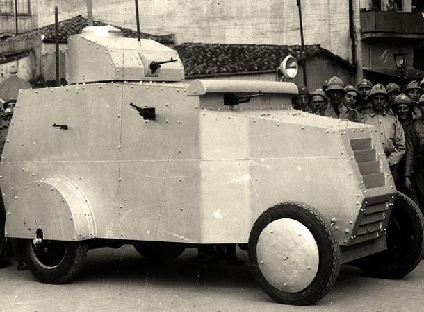 Blindado da Guarda Civil de São Paulo (anos 30).