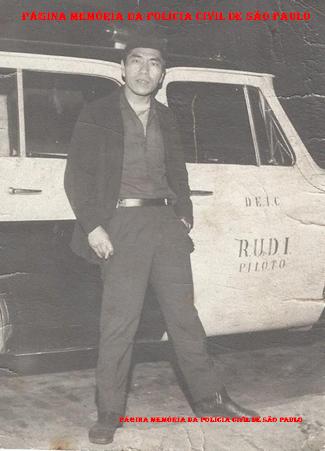 O saudoso Investigador da RUDI, Massaro Honda, no inicio da década de 70.