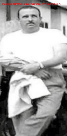"""Investigador de Polícia destaque da Delegacia de Furtos 'Kilo"""", Francisco Alcântara """"Chico"""", na década de 60. Entrou na Polícia Civil em 1957.  ✩1.918 † 2.002 (Acervo do filho Alcântara JF)."""