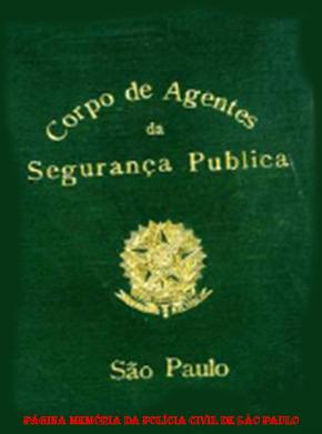 Carteira Funcional de Inspetor de Polícia do Estado de São Paulo, de 1907 a 1913.