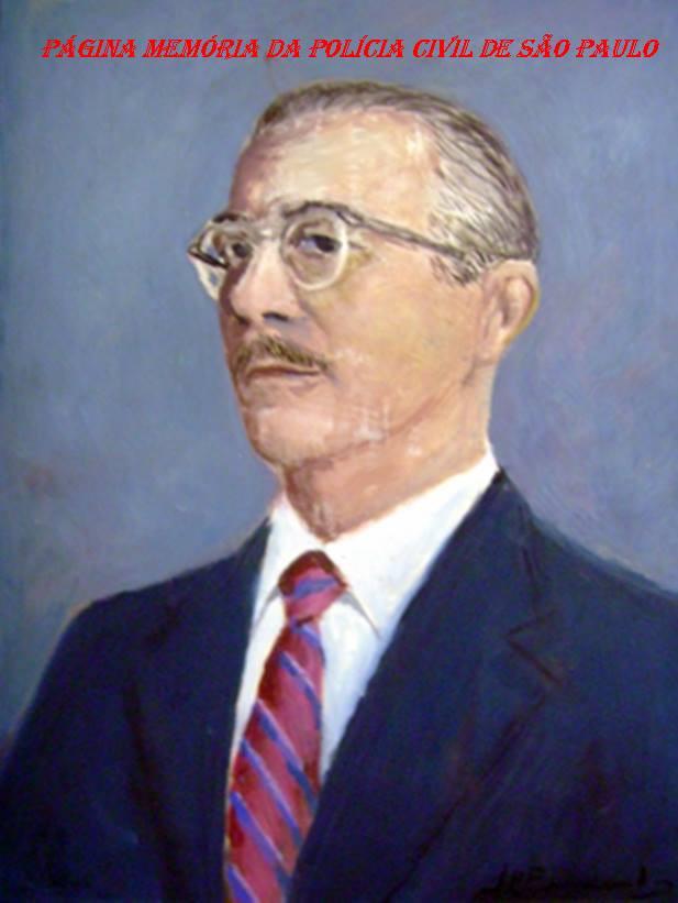 Secretário de Segurança Pública do Estado de São Paulo, Delegado de Polícia Benedito de Carvalho Veras, no final da década de 50.