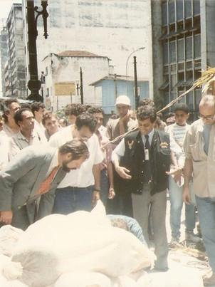 Delegados de Polícia George H Millard , Ruy Fontes, Marco Antonio Pereira Novaes de Paula Santos e o Investigador Silvio Sciascia, anos 90.
