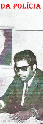 Setor de Jogos e Costumes da Delegacia Seccional de Campinas, início da década de 70. Delegados de Polícia José Leonardo Pedroso (sentado), Antônio Carlos de Toledo Neto (à esquerda) e Humberto Barros Franco Filho.