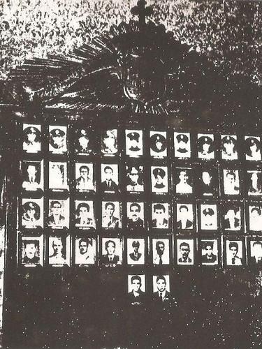 Galeria de Heróis da antiga Guarda Civil de São Paulo, outrora exposta na Sede daquela extinta Corporação.
