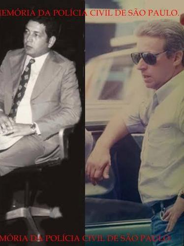 """A lendária dupla de Investigadores da antiga Divisão de Entorpecentes do DEIC, nas décadas de 70 e 80, Paulo Gentil """"Paulinho"""" (posteriormente Delegado) e """"Chiquinho""""."""