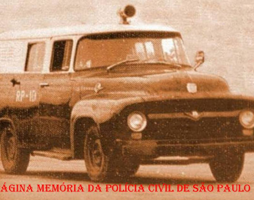 Rádio Patrulha da Polícia do Estado de São Paulo, na década de 60.