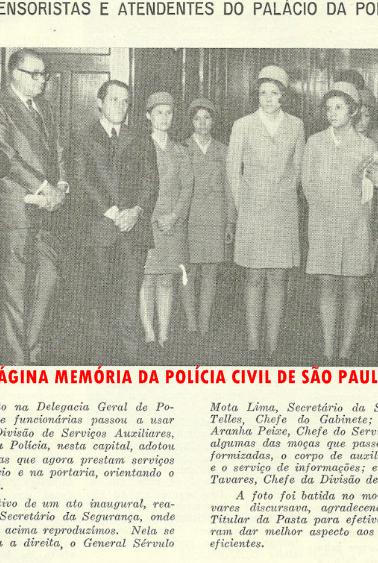 O texto omitiu a presença do Dr. Nemr Jorge, então DGP. Ele está entre os Drs. Celso Telles e Aranha Peixe.
