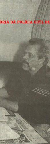 """Chefe dos Investigadores do 22° DP do DEGRAN (Atual DECAP), Sebastião Fernandes Oliveira """"Tranca"""", na década de 80."""